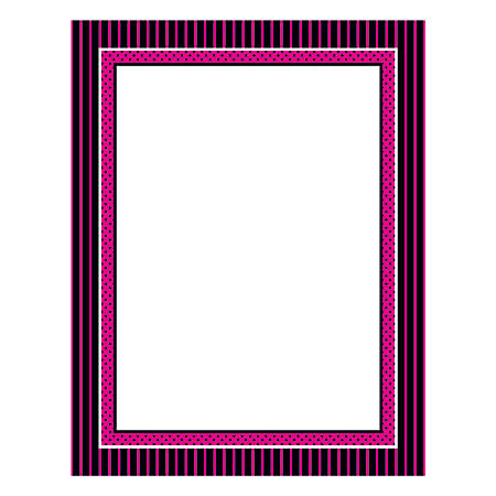 """Great Papers! Design Paper, Oooh La La, 8 1/2"""" x 11"""", 50 Lb, Black/Pink/White, Pack Of 80"""