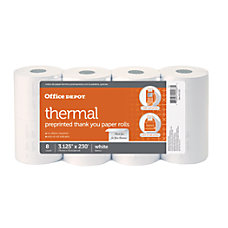 Office Depot Brand Thermal Preprinted Paper