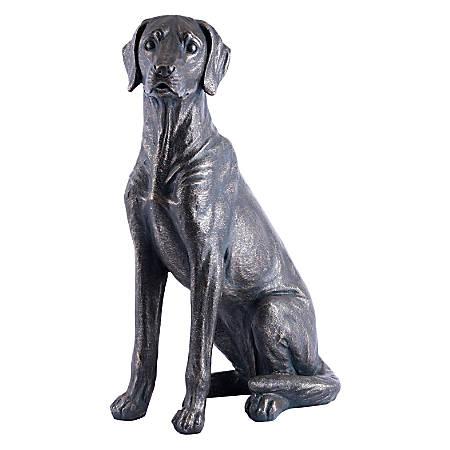 "Zuo Modern Dog Sitting Sculpture, 25 5/8"" x 17 5/16""W x 10 13/16""D, Bronze"
