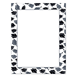 grad design paper mortar hat border 8 12