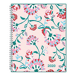 """Blue Sky™ Garden Flower Weekly/Monthly CYO Planner, 8-1/2"""" x 11"""", Multicolor, January To December 2020, 101617"""