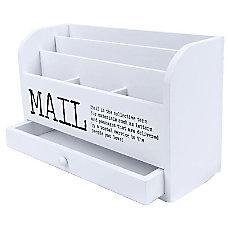 Juvale 3 Tier Wooden Mail Desktop