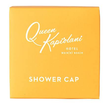 Hotel Emporium Queen Kapiolani Shower Caps, Clear, Case Of 500 Caps