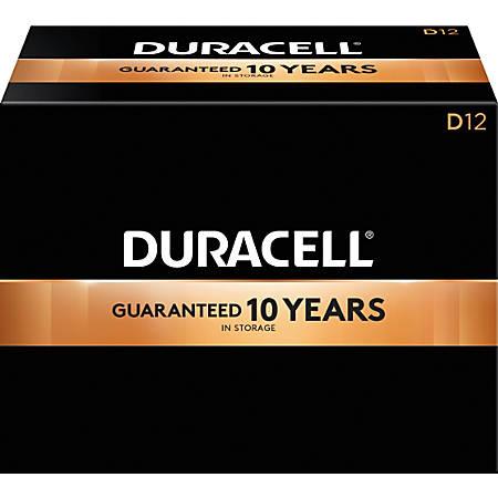 Duracell® Coppertop D Alkaline Batteries, Box Of 72