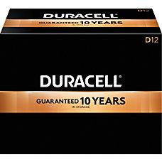 Duracell Coppertop Alkaline D Batteries Box