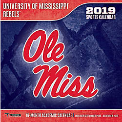 Ole Miss Academic Calendar.Turner Sports Monthly Wall Calendar 12 X 12 Ole Miss Rebels January To December 2019 Item 6154584