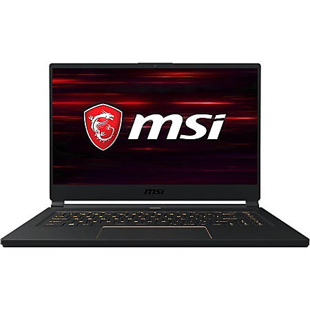 "MSI GS65 Stealth-483 - Core i7 9750H / 2.6 GHz - Win 10 Pro - 16 GB RAM - 512 GB SSD NVMe - 15.6"" 1920 x 1080 (Full HD) - GF RTX 2060 - 802.11ac, Bluetooth - matte black with gold diamond cut"