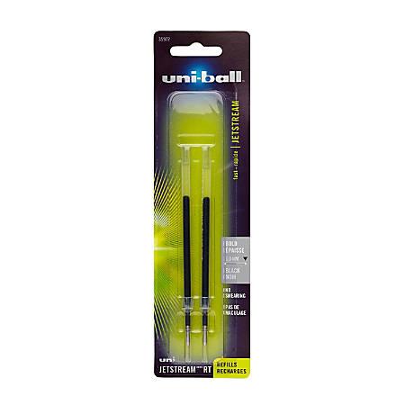 uni-ball® JetStream™ Refills, Bold Point, 1.0 mm, Black, Pack Of 2 Refills