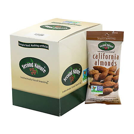 SECOND NATURE California Almonds Nuts, 2 oz, 12 Count