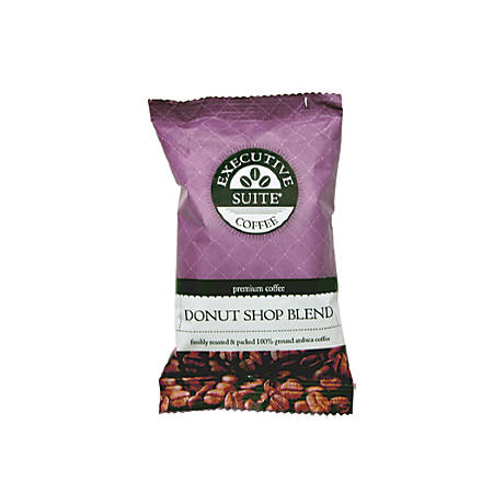 Executive Suite® Donut Shop Regular Blend Coffee, 2 Oz, Box Of 42