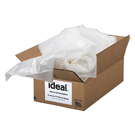 """ideal. Shredder Bags, For Model 2503/2604/3104, 40 Gallons, 33-1/2"""" x 47-1/2"""", Pack Of 80"""
