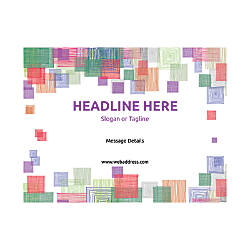 Custom Flyer Horizontal Square Mosaic