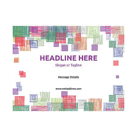 Custom Flyer, Horizontal, Square Mosaic