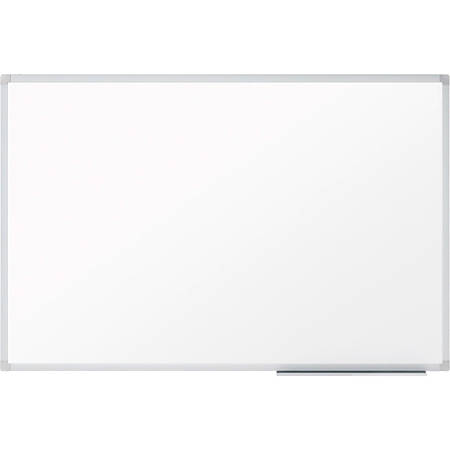 "Mead Dry-erase Board with Marker Tray - 23.8"" (2 ft) Width x 17.6"" (1.5 ft) Height - White Melamine Surface - Silver Aluminum Frame - Wall Mount - 1 Each"
