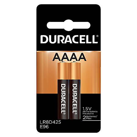 Duracell 1.5-Volt Alkaline AAAA Batteries, Pack Of 2