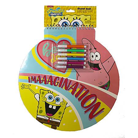 "Inkology Jumbo Sketchbooks, 13"", 25 Pages (50 Sheets), SpongeBob Squarepants, Pack Of 6 Sketchbooks"