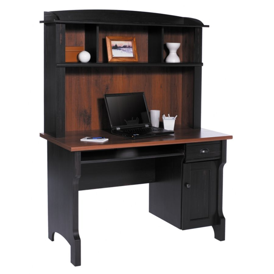 Realspace Shore Mini Solutions Computer Desk With Hutch Antique Black By  Office Depot U0026 OfficeMax