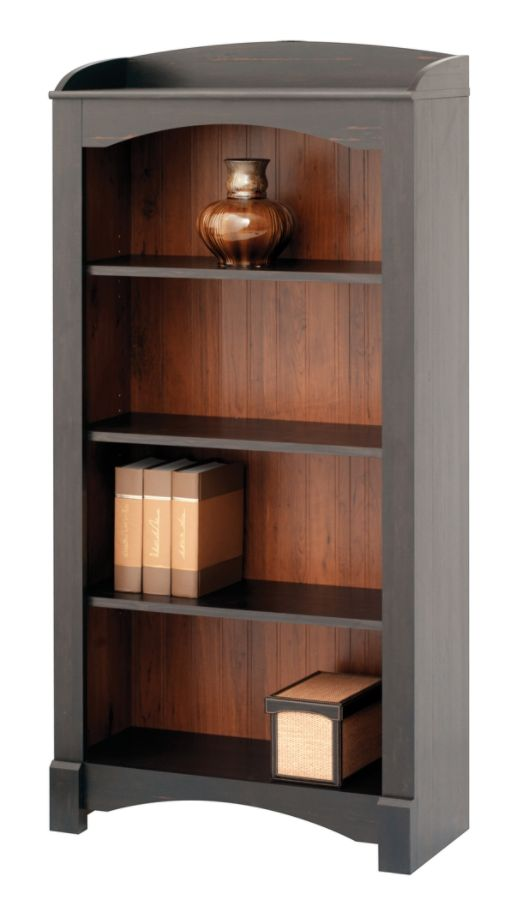 Realspace Shore Mini Solutions 4 Shelf Bookcase Antique Black By Office  Depot U0026 OfficeMax