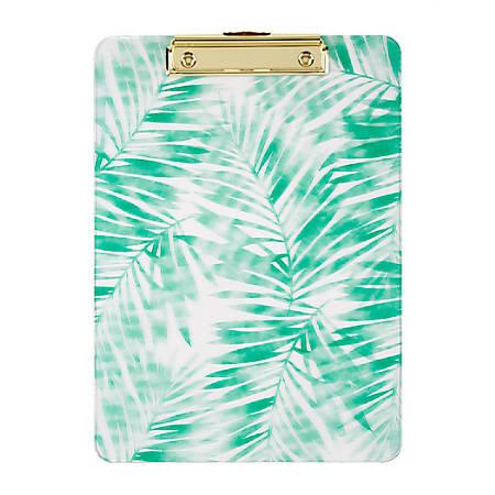 "Office Depot® Fashion Clipboard, 9"" x 12-1/2"", Tropical Palms"