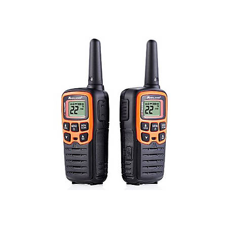Midland X-TALKER T51VP3 Walkie Talkie - 22 Radio Channels - Upto 147840 ft - 38 - Auto Squelch, Keypad Lock, Silent Operation, Low Battery Indicator, Hands-free - Water Resistant - AAA - Lithium Polymer (Li-Polymer)