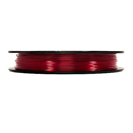 MakerBot PLA Filament Spool, MP05762, Large, Translucent Red, 1.75 mm