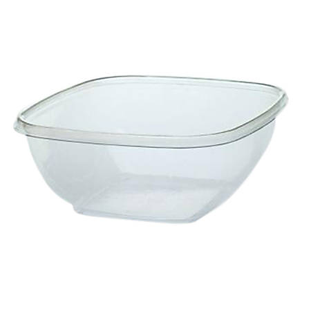 Cold Collection Square Food Container Bases, 32 Oz, Clear, Pack Of 300 Bases