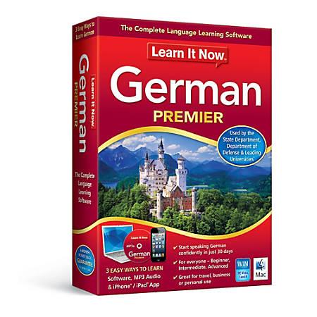 Learn It Now™ German Premier, Download Version