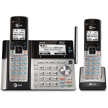 AT&T® Connect to Cell™ DECT 6.0 Expandable Cordless Phone With Digital Answering Machine, TL96273