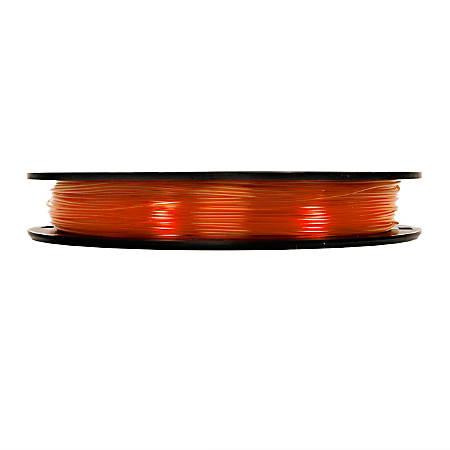 MakerBot PLA Filament Spool, MP05764, Large, Translucent Orange, 1.75 mm