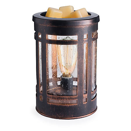 "Candle Warmers Etc Edison Bulb Illumination Fragrance Warmer, 5-13/16"" x 8-13/16"", Mission"