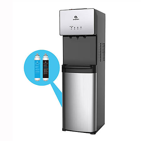 Avalon Self Cleaning Bottleless Water Cooler Water Dispenser - 3 Temperature Settings - Hot, Cold & Room Water, Durable Stainless Steel Cabinet, NSF Certified Filter- UL/Energy Star Approved