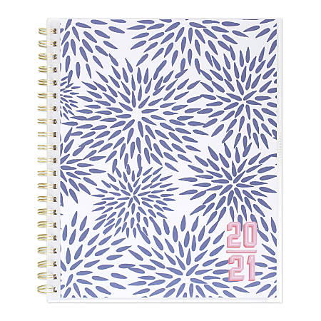 """Katie Kime for Cambridge® Mums Academic Customizable Weekly/Monthly Planner, 8-1/2"""" x 11"""", Blue/Pink, July 2020 to June 2021, KK104-901A"""