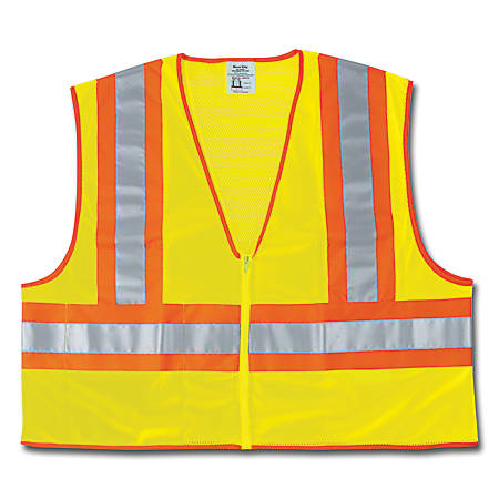 Luminator Class II Safety Vests, X-Large, Lime