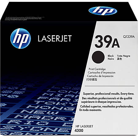 HP 39A, Black Original Toner Cartridge (Q1339A)