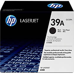 HP 39A Black Original Toner Cartridge
