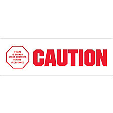Tape Logic Caution If Seal Is