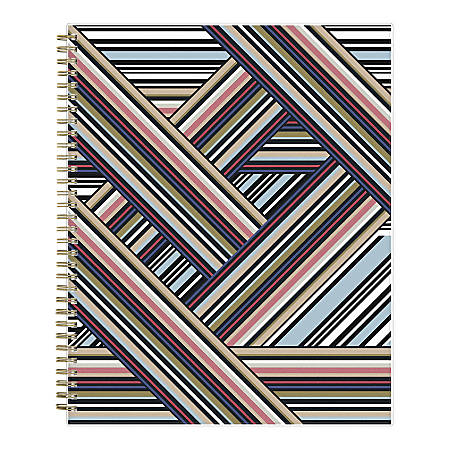 "Blue Sky™ Nicole Miller Weekly/Monthly Frosted Planner, 8-1/2"" x 11"", Aviator Stripe, January To December 2020, 116293"
