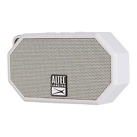 "Altec Lansing® Mini H2O 3 Bluetooth® Speaker, 2.38""H x 1.35""W x 4.3""D, Cool Gray, IMW258-CG"