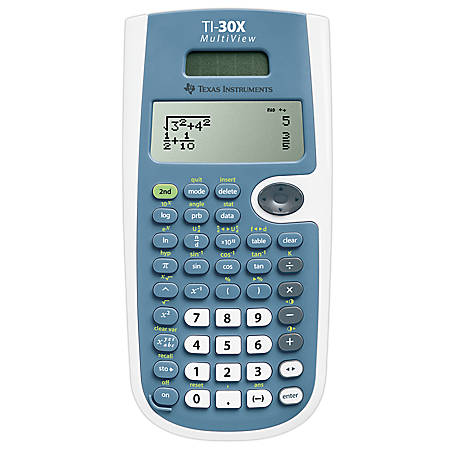 Texas Instruments® TI-30XS MultiView Scientific Calculator, Blue