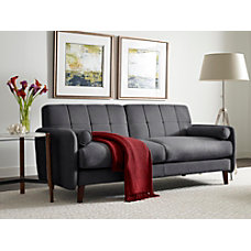 Serta Savanna Collection Sofa Slate GrayChestnut