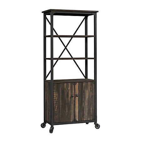 """Sauder® Steel River 69-13/16""""H 5-Shelf Bookcase, Carbon Oak, Standard Delivery"""