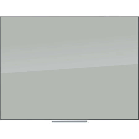 "U Brands Floating Dry-Erase Board, Glass, 48"" x 36"", Gray"