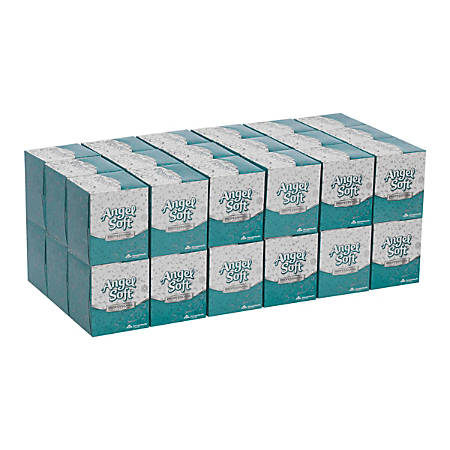 Angel Soft by GP PRO Professional Series® 2-Ply Facial Tissue, 96 Sheets Per Box, Case Of 36 Boxes