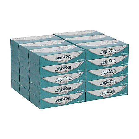 Angel Soft by GP PRO Professional Series® 2-Ply Facial Tissue, 100 Sheets Per Box, Case Of 30 Boxes