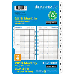 Day Timer Classic 2 Pages Per