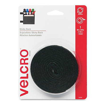 brand Fabric Fusion Tape 3//4X5-Black R VELCRO