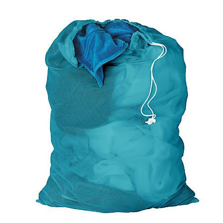 Honey-Can-Do Mesh Laundry Bags, Ocean Blue, Pack Of 2