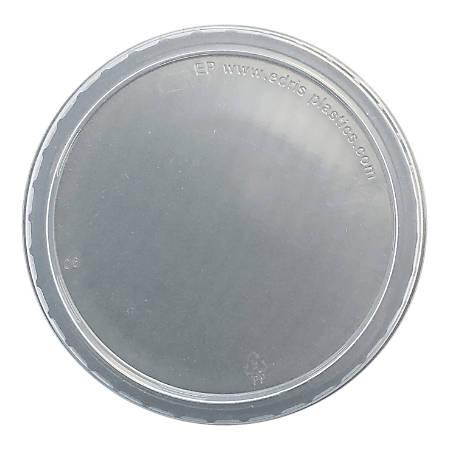 Edris Plastics Flat Deli Lids, 8 - 32 Oz, Pack Of 500 Lids