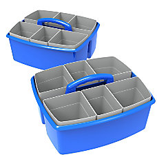 Storex Plastic Storage Caddies With Cups
