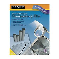 Apollo Plain Paper Copier Transparency Film